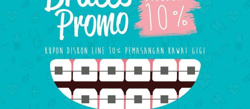 Promo Juni Bogor Dental Center Diskon 10% Pemasangan Kawat Gigi